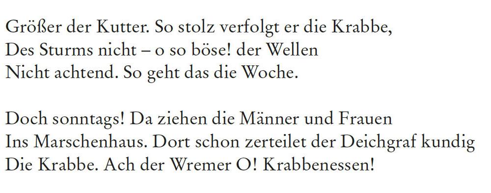 Robert Gernhardt - Groß, größer, am größten. Drei Oden. 2. Strophe